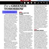 For a GREENER TOMORROW - Times of India Property